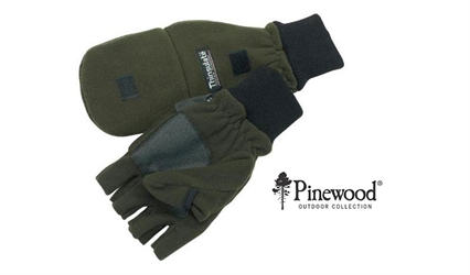 Pinewood Handske/Luffe, Fleece - Grøn