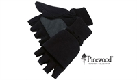 Pinewood Handske/Luffe, Fleece - Sort