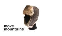 Move Mountains Canada Leather Hat